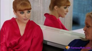 worldxxxescorts.com Redhead beauty masseuse gets her asshole fucked
