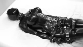 Latex tied up and vibed
